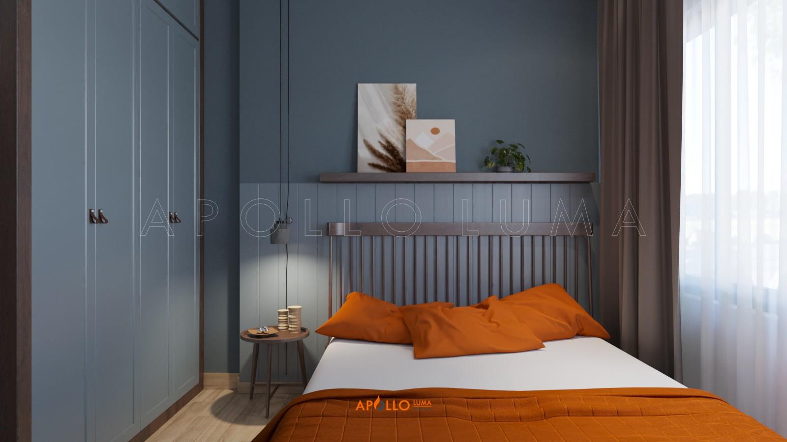 Thiết kế nội thất căn hộ 2PN+1 Vinhomes Smart City