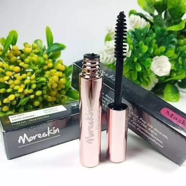 MORESKIN Maskara merupakan satu produk kosmetik NASA dari Moreskin Cosmetics yang diformulasikan khusus untuk mempercantik bulu mata Anda. Maskara NASA ini bersifat waterproof atau tahan air, tidak mudah luntur dan tahan lama.