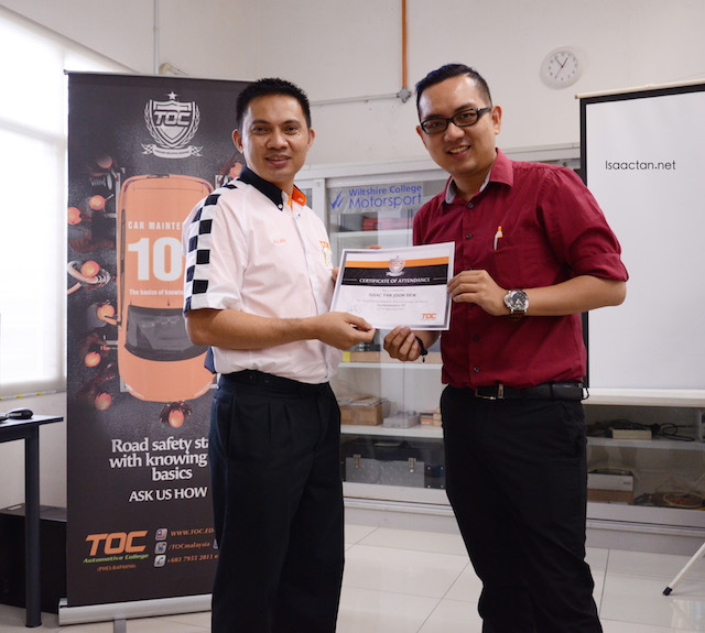 Thank you TOC Automotive College Malaysia