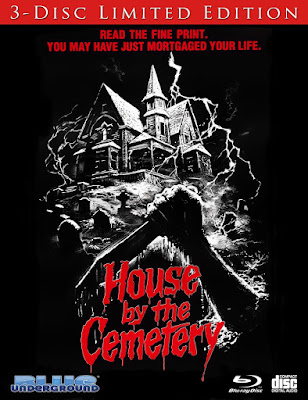 Reverse cover art for Blue Underground's 3-Disc release of HOUSE BY THE CEMETERY!