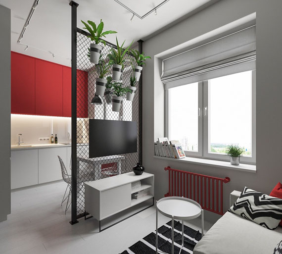 a touch of red, simplicity and design, deco ideas, apartments