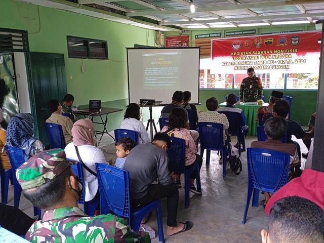 Personel Satgas TMMD Ke-112/Kodim 0207/Simalungun Laksanakan Penyuluhan Wasbang, Kesehatan Narkoba Dan Pendidikan