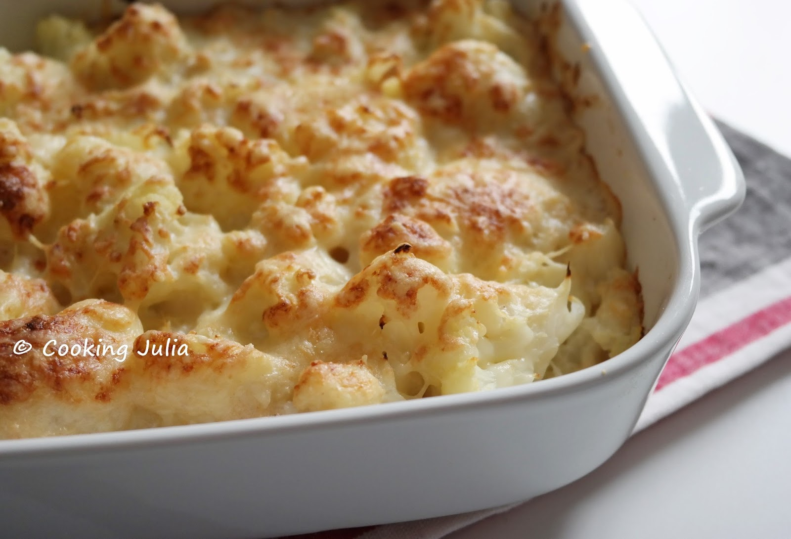 Cooking julia gratin de chou fleur express au quinoasure for Fleurs express
