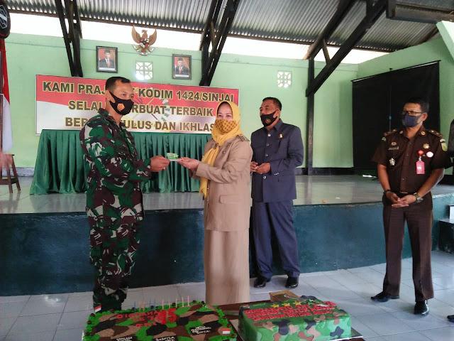 Wabup-Ketua DPRD Sinjai Ikuti Upacara HUT TNI ke-75 Secara Virtual