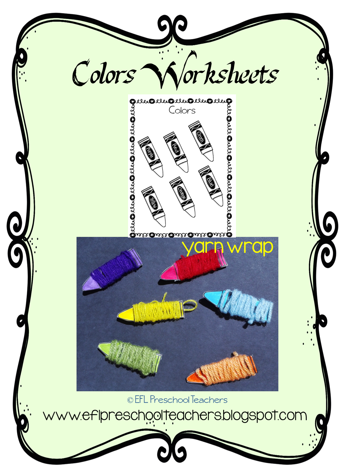 Esl Efl Preschool Teachers Color Worksheets
