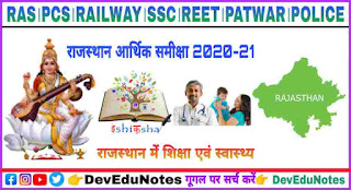 Education and health in Rajasthan