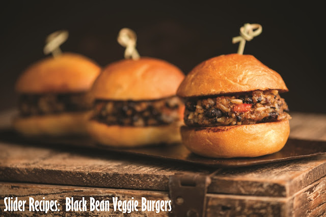 Slider Recipes: Black Bean Veggie Burgers