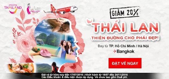 Giảm giá vé máy bay đi Bangkok