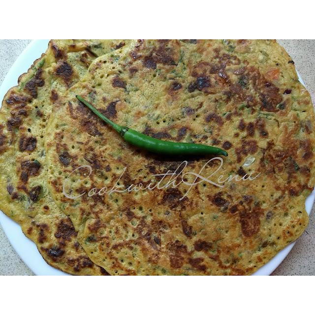 Tomato Omelete / Besan Chila (PanCake)