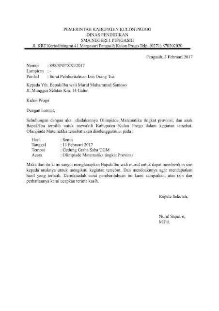 Contoh Surat Izin Sekolah untuk Kegiatan  (via: madreview.net)