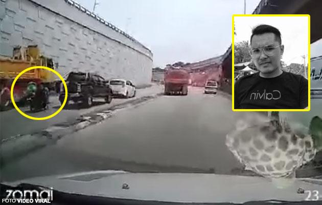 (Video) Rider Grab maut dalam kemalangan ketika mencari rezeki untuk isteri & bakal anak pertama
