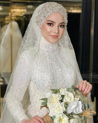خلفيات عروسة محجبة جميلة