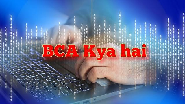 BCA Kya hai? BCA कैसे करे Aur BCA कोर्स Fess- What is BCA Course in Hindi