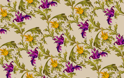 Damask textile repeat 7056