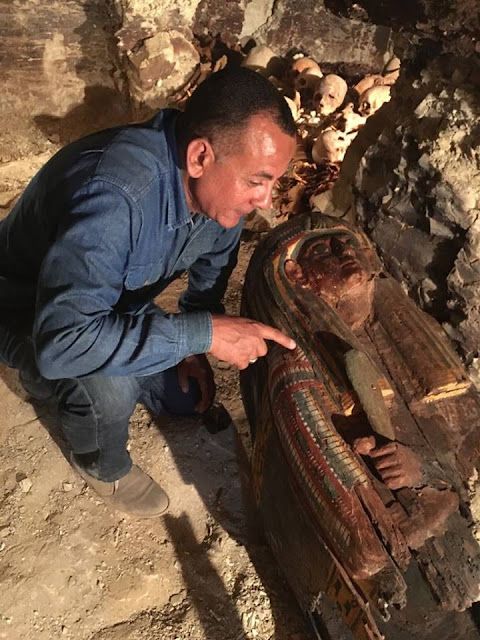 3,500 year old tomb discovered in Draa Abul Naga necropolis on Luxor's west bank
