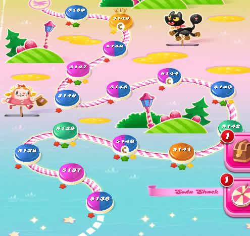 Candy Crush Saga level 5136-5150