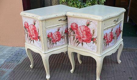 El rincon de angela como reciclar un mueble de madera con for Decoupage con servilletas en muebles