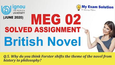 forster, a passage to india, meg ignou assignment, meg 03, ignou meg assignment