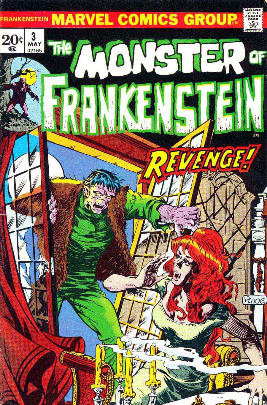 Frankenstein v2 #3 marvel comic book cover art by Mike Ploog