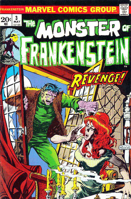 Frankenstein v2 #3 marvel comic book cover art by Mike Ploog