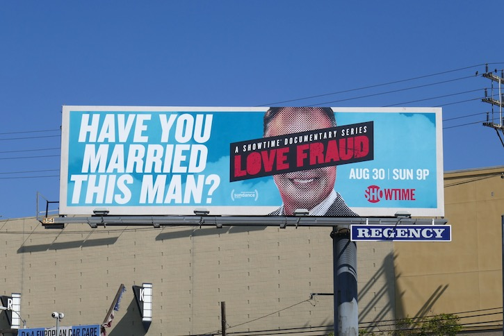 Love Fraud series premiere billboard