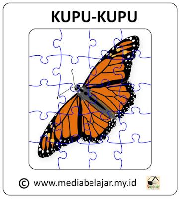 Download Puzzle Jigsaw Kupu-Kupu 20 Bagian