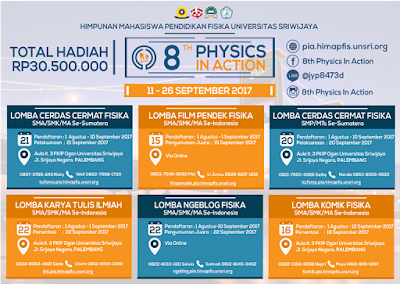 Event 8TH Physics in Action by Universitas Sriwijaya For SMP/SMA
