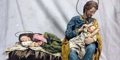 imagem do presépio com Nossa Senhora dormindo