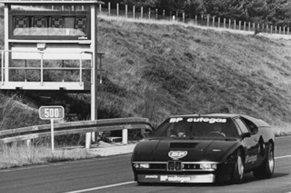 BMW M1 Biturbo a gas récord velocidad