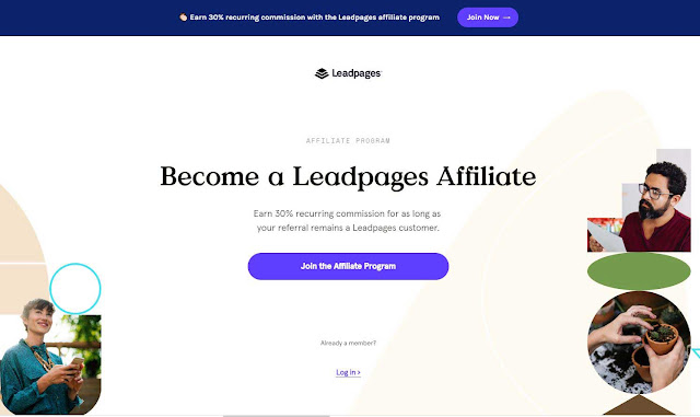 make money with Leadpages Partner Program