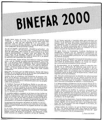 cómo sería Binéfar en el año 2000.