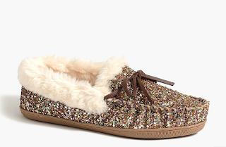 J.Crew Glitter Slippers