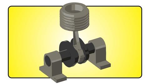 Animated Engine model design in fusion 360