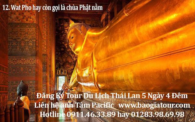 12. Wat Pho hay còn gọi là chùa Phật nằm