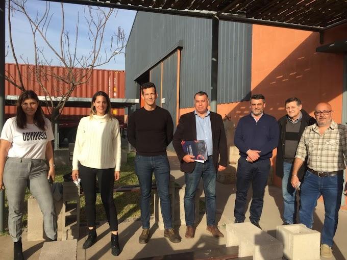 """Monchiero y Losada en el Área Industrial: """"Nos piden escuelas en oficios y es uno de nuestros proyectos"""""""