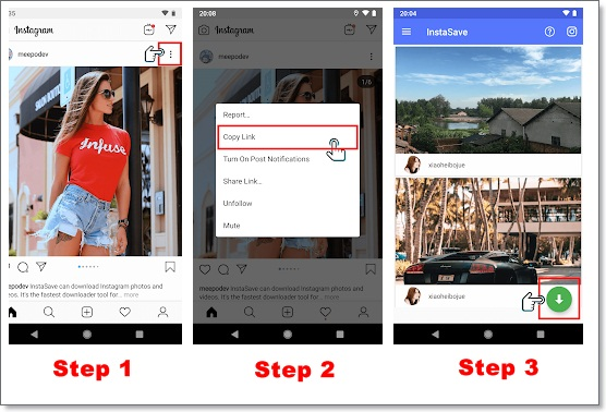 tutorial download video instagram menggunakan supersave