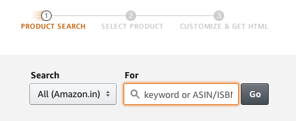 Amazon Affiliate Program India Product Links Tool