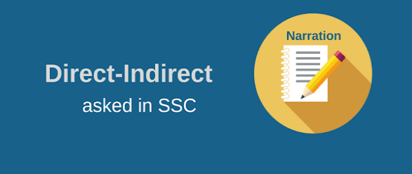 Direct-Indirect (Narration) asked in SSC PDF Download