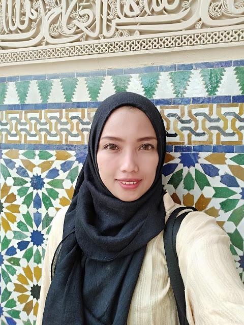 Salah satu sudut dinding Astaka Morocco