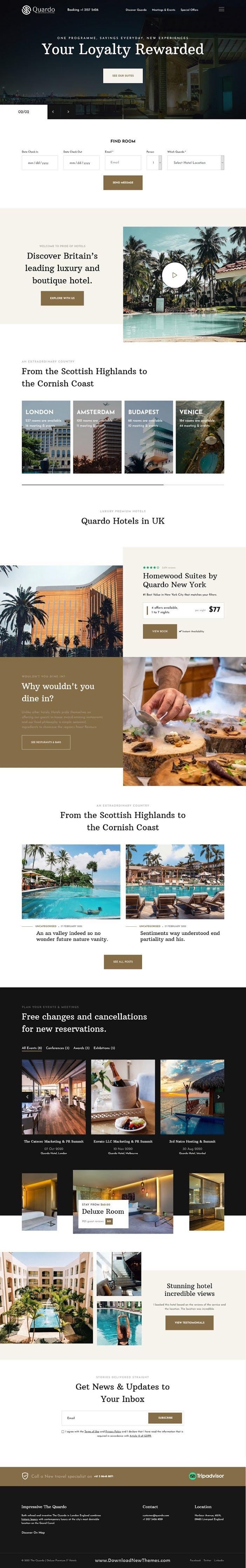 Deluxe Premium Hotels Joomla Template