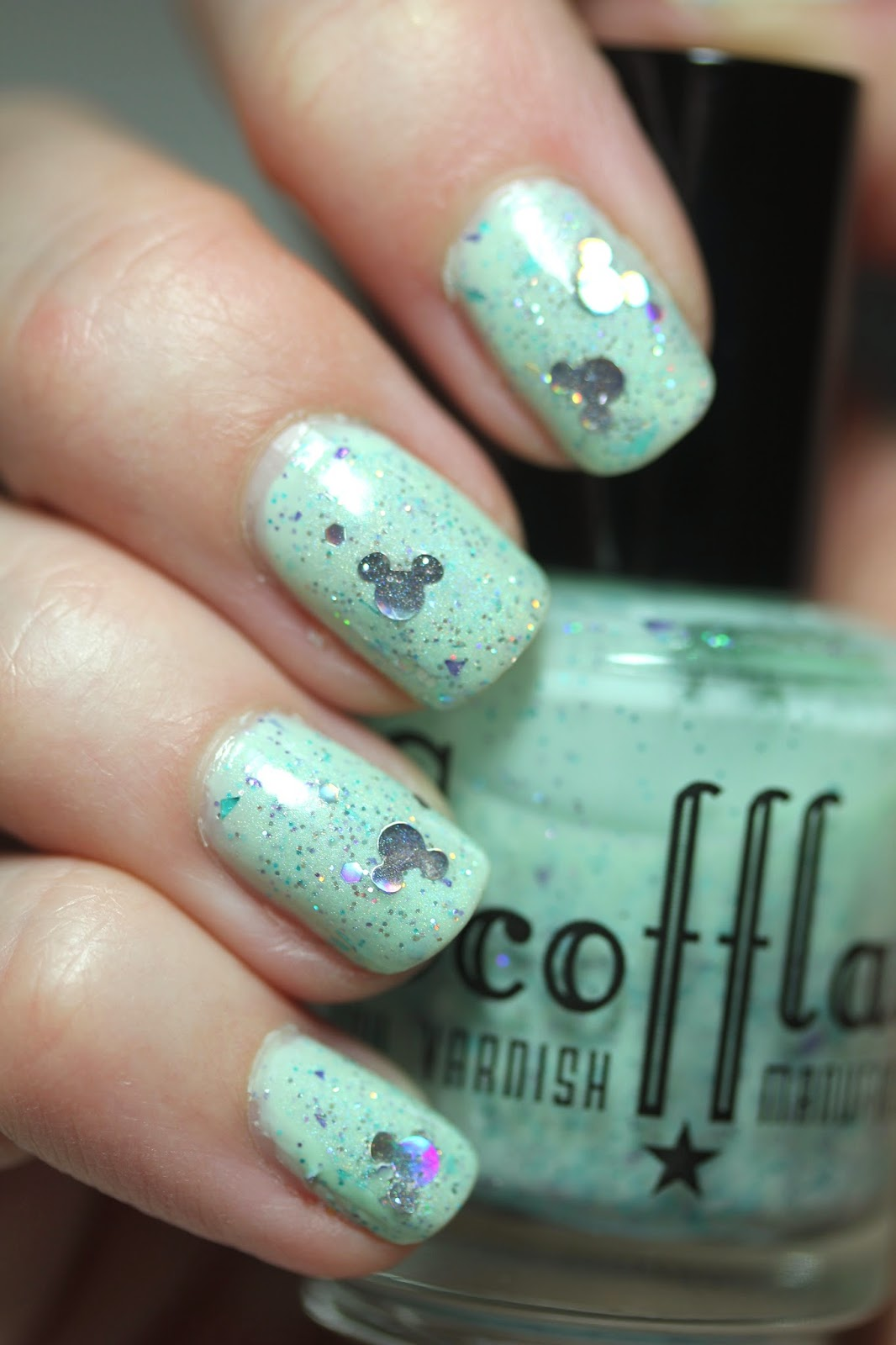 nail polish with mickey glitter