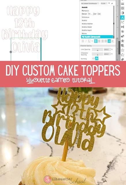 silhouette 101, silhouette america blog, paper crafts, cake topper, cameo 4