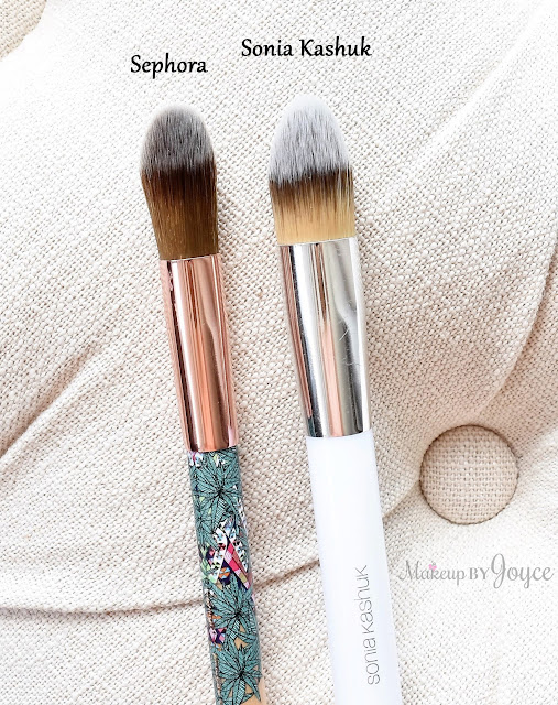 Sephora Mara Hoffman Sonia Kashuk #121 Brush Comparison Review