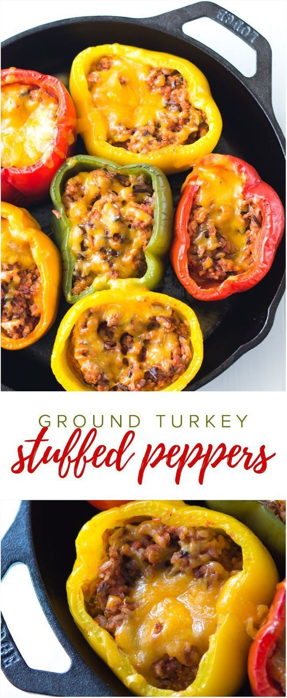 GROUND TURKEY STUFFED PEPPERS #recipes #healthymeals #food #foodporn #healthy #yummy #instafood #foodie #delicious #dinner #breakfast #dessert #lunch #vegan #cake #eatclean #homemade #diet #healthyfood #cleaneating #foodstagram