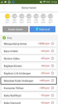 kode undangan aplikasi caping android