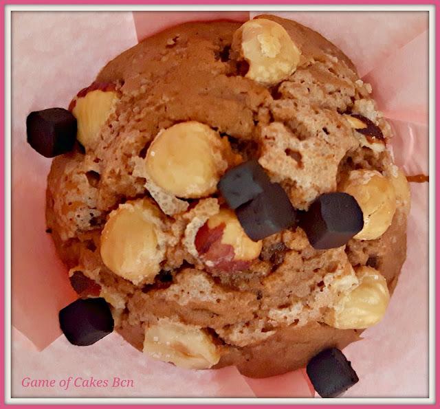 Muffin de Nocilla y Avellanas