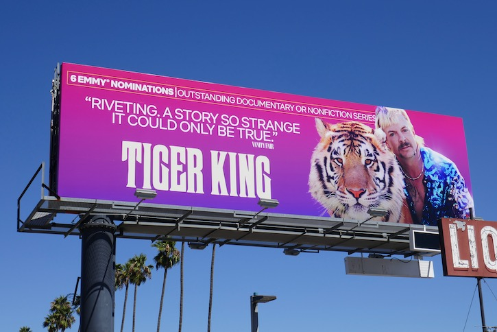 Tiger King 2020 Emmy nominee billboard