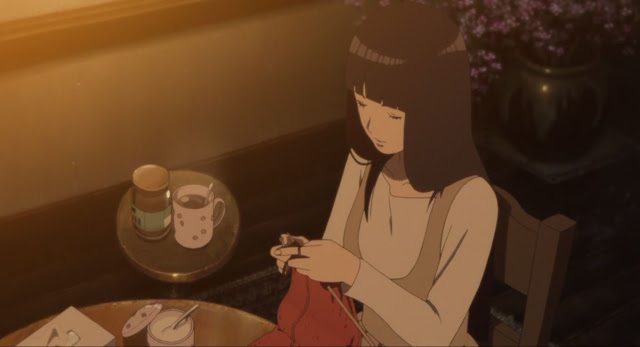 Hinata membuat syal