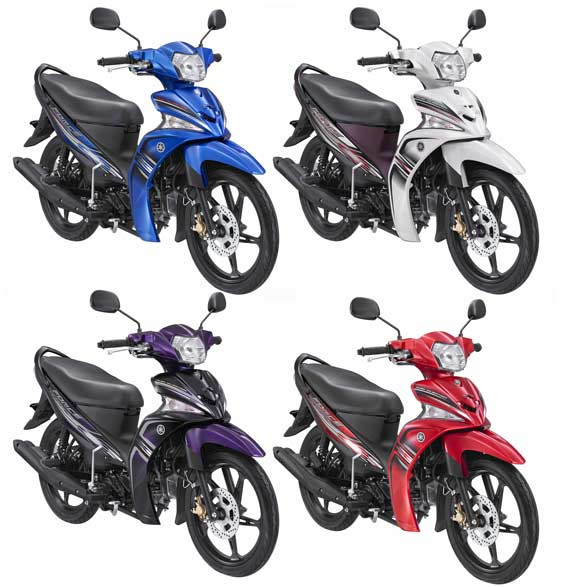 Yamaha Force Elegant Red Spirit, Black Action, White Power, Blue Energy.