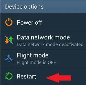 إعادة تشغيل هاتفك